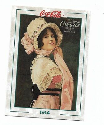 Coca Cola Collection Series 2 (1994) 1914 # 121 Vintage Lady Fridge Fact Trivia
