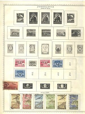 All Different Yugoslavia Stamps On Minkus Stock Pages Part 2