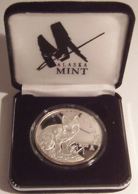 2000 Alaska State Medallion Red Fox 1 Oz. .999 Silver Proof Round in Case