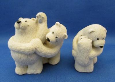"""Set of 2 Polar Bear Figurines """"You're The Best"""" and """"Tickle Time"""" - Canada"""
