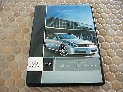 Infiniti G35 Q45 Fx Qx56 M Cd Press Kit Brochure And Dvd 2005 Usa Edition