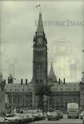 1986 Press Photo Peace Tower of Canadian Parliament buildings, Ottawa, Canada