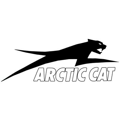 "Arctic Cat Aircat Corporate Decal Sticker - White - 6"" 12"" 24"" - 4299-73_"