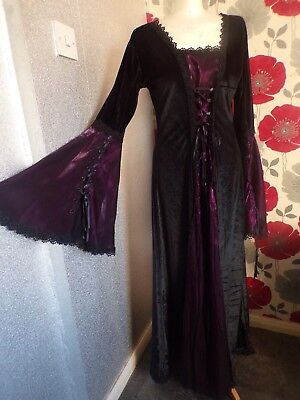 Vintage Quality Ex Theater Medieval /gothic  Style Dress  Size 14/16