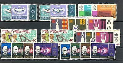 New Hebrides / Nouvelle 1965/66 --24 Stamps --** -- Vf
