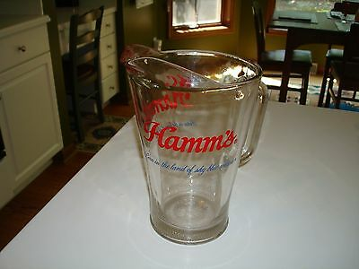 Vintage HAMM'S Born in the and of sky blue waters 60oz Beer Pitcher MINT!! L@@K