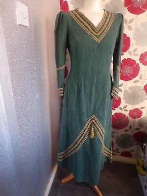 Vintage Quality Ex Theater Medieval Gothic  Style Dress  Size 12