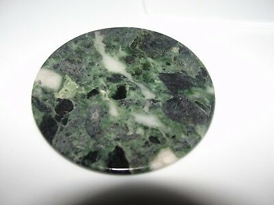 Dollhouse Miniature Round Green Marble Top