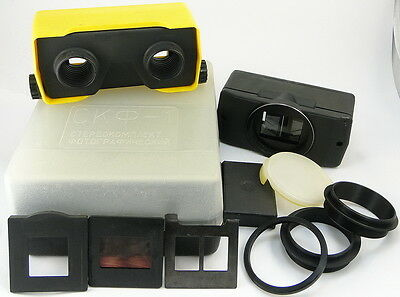 1991! SKF-1 Russian Stereo Attachment Kit Taking 3D Pictures & Viewing Slides #2