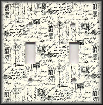 Metal Switch Plate Cover Shabby Chic French Script Home Decor Wallplates