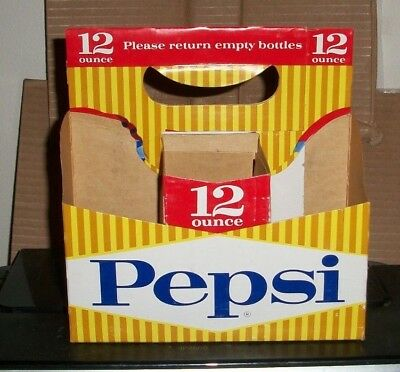(1) Used Dated 1952 Pepsi-Cola Soda Bottle 6 Pack Carrier for 12oz Bottles A