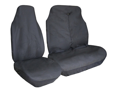 VW VOLKSWAGEN LT35 Universal Van Seat Covers Leatherette Black + Free Delivery
