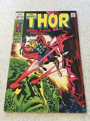 The Mighty Thor 161  VF-  7.5  High Grade    Galactus  Ego The Living Planet