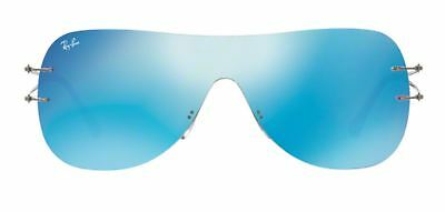 2a2a7d5801 NEW RAY BAN RB8057 159 6Q Blue with Red Flash Mirror Titanium Shield ...