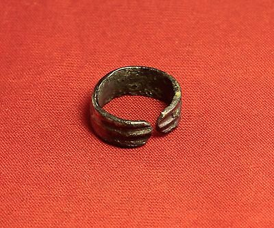 Ancient Celtic Bronze Decorated Ring