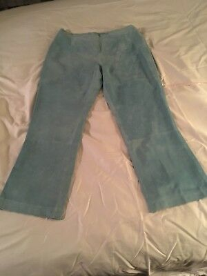 Guillaume leather pants and skirt Light blue, lined & washable leather sz Large