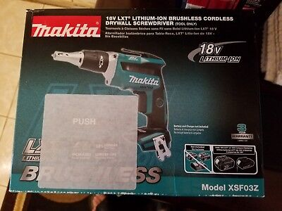NEW Makita XSF03Z 18V LXT Lithium‑Ion Brushless Cordless Drywall Screwdriver