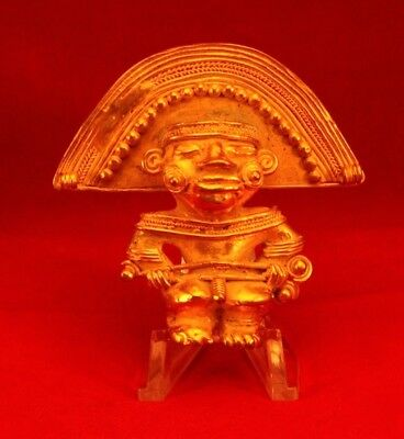 Pre-Colombian Tumbaga Shaman Holy Man  Figure   Lost Wax Gold/silver/copper