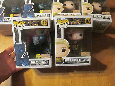 Funko Pop Game Of Thrones Ser Brienne Of Tarth 87 Icy Viserion 22 Lot Box Lunch