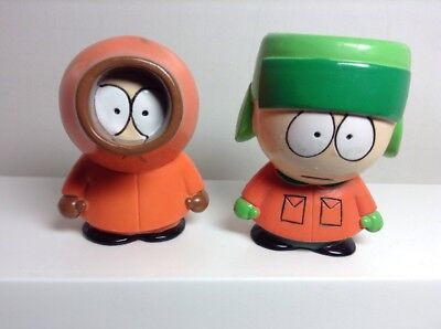 """1998 Comedy Central South Park 2 1/2"""" Tall Hard Plastic Figures  Fun 4 All Corp."""