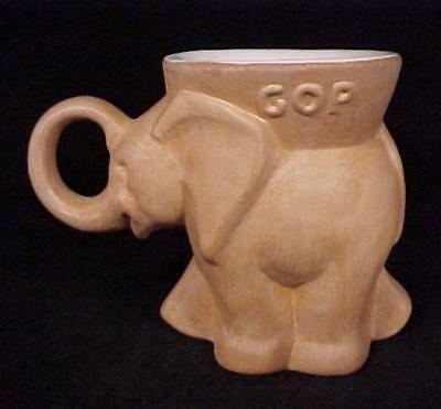 1980 Frankoma Pottery GOP Political Party Elephant Mug Republican Terra Cotta