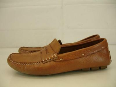 2a705f10385 Mens 8.5 M Cole Haan Air Grant Driving Moccasins Shoes Tan Penny Loafers  Leather