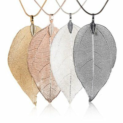 Fashion Women Special Leaves Leaf Necklace Pendant Sweater Chain Jewelry Gift