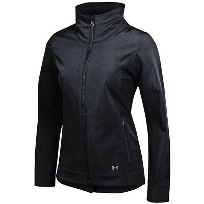 NEW Lady Under Armour Storm Fusion Full Zip Soft Shell Jacket Black -Choose Size