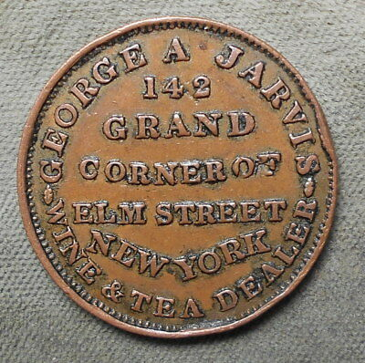 Hard Times HT-284 Low-123 Rarity-1 George A. Jarvis Wine & Tea Dealer New York