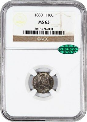 1830 H10c NGC/CAC MS63 - Type Coin - Early Half Dimes - Type Coin