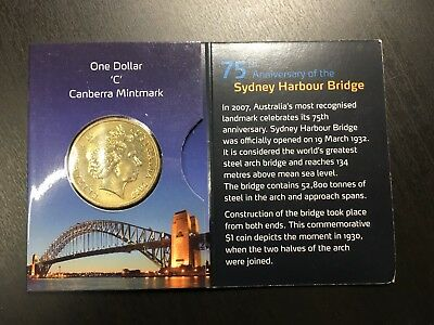 2007 75th Anniversary Sydney Harbour Bridge Uncirculated C Mint Marked