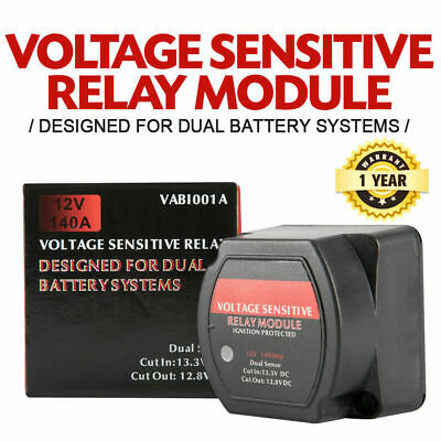 Voltage Sensitive Relay 12V Vsr Isolator 140A Dual Battery System