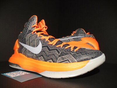 96a0dddb1974 Nike Kevin Durant Kd V 5 - Bhm Black History Month Platinum Grey Orange New  8.5