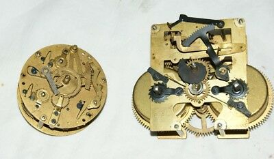 2 x Antique/Vintage Clock Movements, Spares/Repair