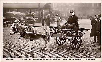 London Life. Coster & Donkey Cart, Covent Garden Market by Rotary # 10513-47.