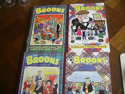 Four The Broons Annuals D.c Thompson - 1999 2001 2003 2005