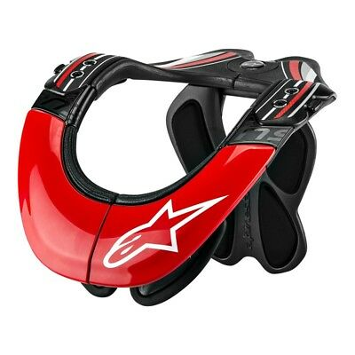 Alpinestars Bns Tech Anthracite Red White Carbon Motorcycle Neck Support - New!
