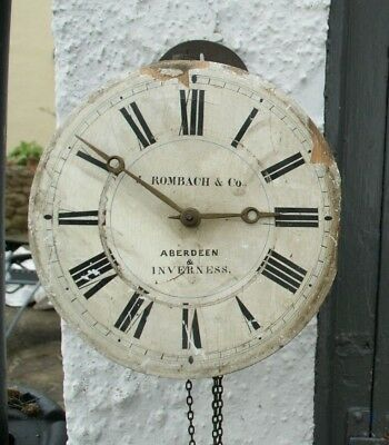 Antique Weight/Chain Driven J. Rombach & Co. POSTMAN'S Wall Clock, Spares/Repair