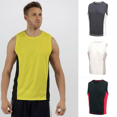 Regatta Mens Rio Vest | Moisture Wicking Antibacterial Sleeveless Sports Top