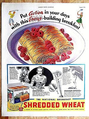 1936 SHREDDED WHEAT   Print AD 10.5 x13.5