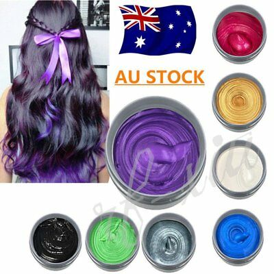 Fashion Colors Unisex DIY Hair Color Wax Mud Dye Cream Temporary Modeling