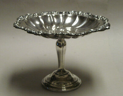 Wallace Baroque Medium Compote 274, Silverplate, 6 1/8""