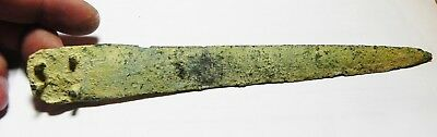 ZURQIEH -as6516- ANCIENT HOLY LAND, CANAANITE BRONZE DAGGER HEAD. 1300 B.C