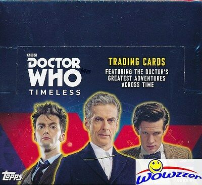 (4) 2016 Topps Doctor Who Timeless HUGE Factory Sealed Retail Boxes-4 HITS !