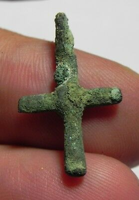 ZURQIEH -as6532- ANCIENT BYZANTINE BRONZE CROSS. 700 A.D