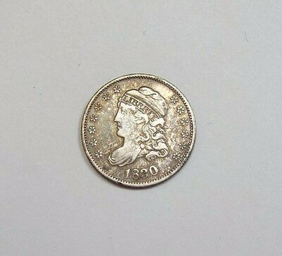 1830 Capped Bust Silver Half Dime VERY FINE 5c