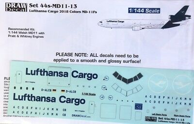 1/144 Lufthansa NEW/NEUE Farben/Colors MD-11F Decal