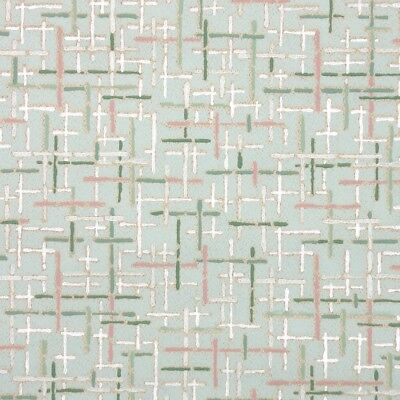 1940s Fine Graphics Vintage Wallpaper Mint Green with Pink Green White and Gray