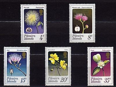 Pitcairn Islands #130-134 Mnh Various Flowers