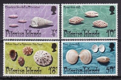 Pitcairn Islands #137-140 Mnh Various Seashells